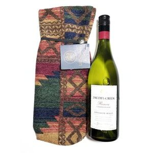 Indian Blanket Wine Passport Hand Made Wine Bag